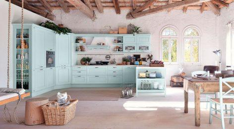 Голубая кухня, заказ по размерам