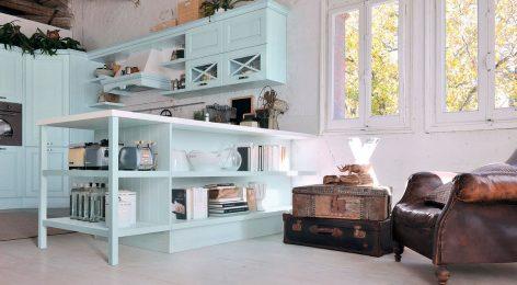 Голубая кухня, фабрика Модные кухни Москва