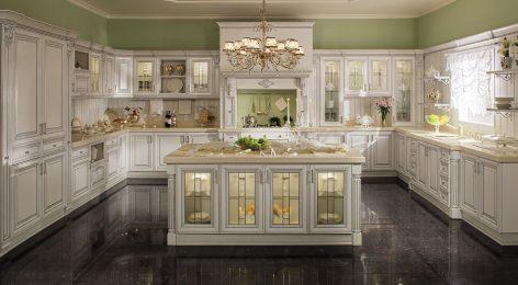 Люксовая кухня Патрисия на заказ от фабрики Модные кухни