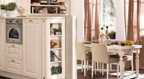 Открытые полки на кухне можно заказать по размерам
