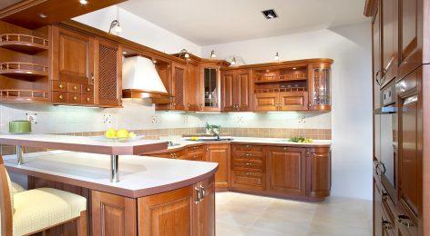 Радиусные фасады кухни