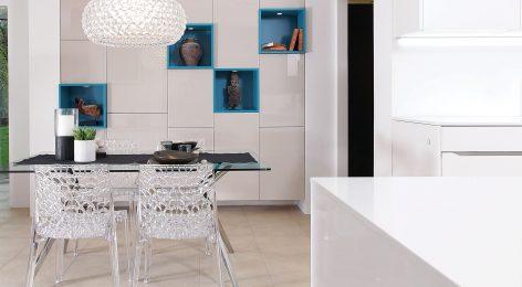 Стильное решение для кухни гостиной
