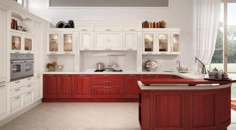 Барная стойка в классической кухне