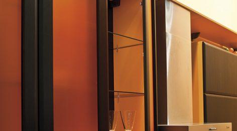 Стильный подвесной шкаф кухни Лето