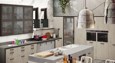Кухня в стеле лофт 3