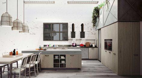 Кухня в стеле лофт 4