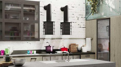 Кухня в стеле лофт 5