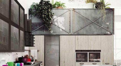 Кухня в стеле лофт 6