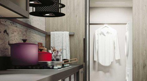 Кухня в стеле лофт 7