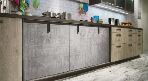 Кухня в стеле лофт 9