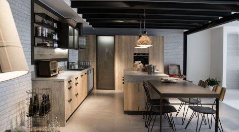Кухня в стиле лофт 6