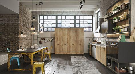 кухня в стиле лофт 2