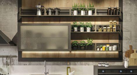 кухня в стиле лофт 4