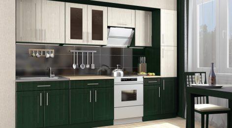 анита — модная зелёная кухня купить в Москве
