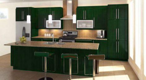 Кухня анита праздничного зелёного цвета